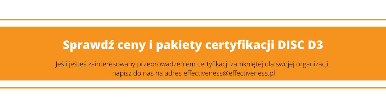 Certyfikacja DISC D3 - ceny, pakiety