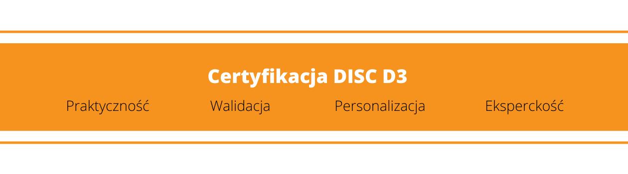 Certyfikacja DISC D3